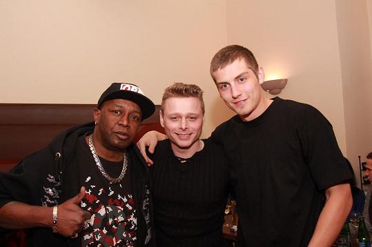 Jarek Šimek s rappery Henrym D. (vlevo) a Big Bad Wolfem