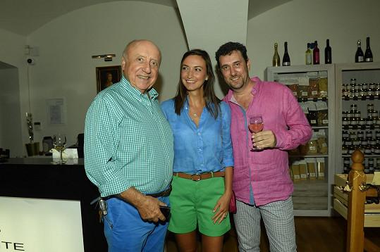 S ní také vyrazil na párty, kterou pořádal Domenico Martucci, kde jsme ho vyzpovídali.