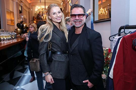 Na akci se potkala se stylistou Martinem Gruntorádem.