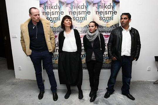 Karel Roden, Lenka Vlasáková, Klaudie Dudová a Zdeněk Godla představili svůj nový film.