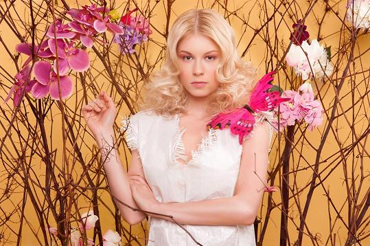 Michaela Sejnová v roli modelky
