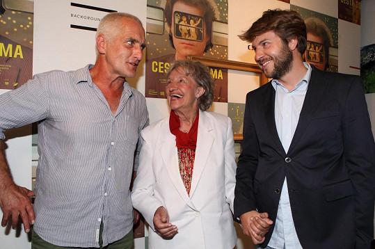 S kolegyní Ninou Divíškovou a režisérem Tomaszem Mielnikem
