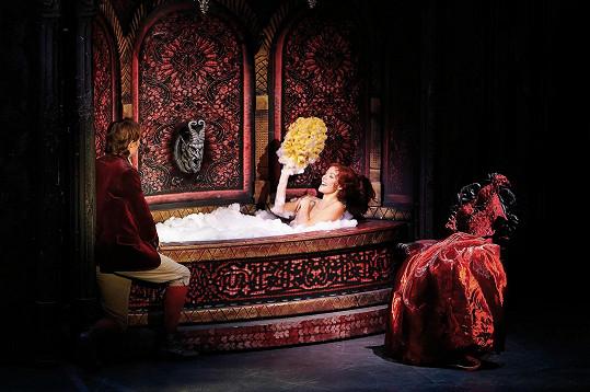 Takhle bude Míša vypadat při jedné ze scén v muzikálu Ples upírů.