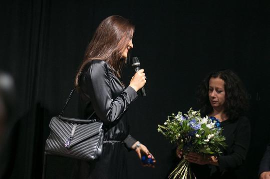 Sokolová děkovala moderátorce večera Ester Kočičkové.