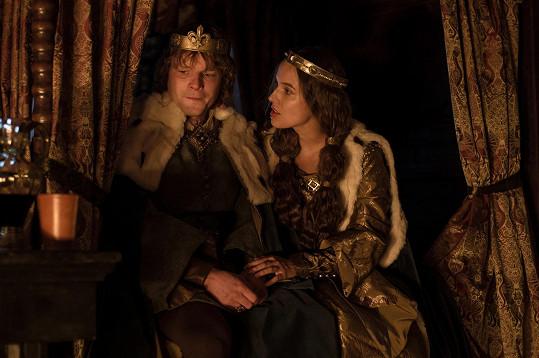 Kryštof Hádek jako Karel IV. a Tereza Voříšková jako jeho manželka Blanka z Valois