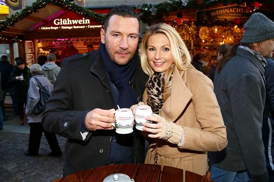 S bývalou partnerkou Sandrou Parmovou