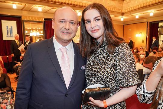 Kateřina Zemanová dorazila na vyhlášení soutěže Anděl mezi zdravotníky, kterou pořádá David Novotný.