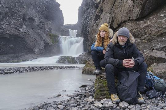 Jiří Langmajer nedávno na Islandu točil film.