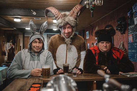 Hlavní hrdinové seriálu Pavel Liška, Pavel Šimčík a Tomáš Jeřábek
