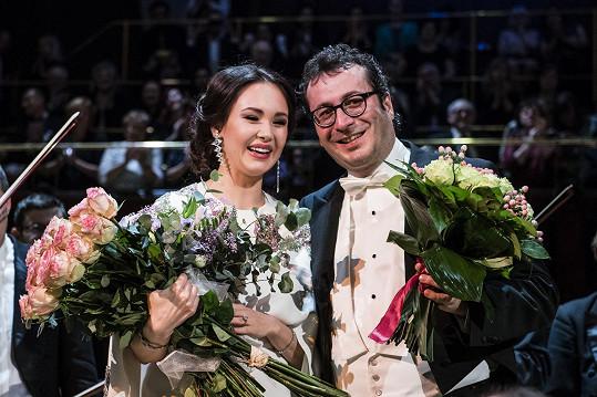 Pěvkyně a dirigent Jochen Rieder se setkali pracovně už poněkolikáté.