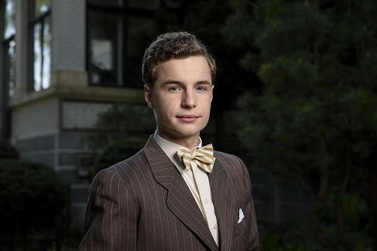 Oskar Hes si zahrál syna Emanuela Moravce.
