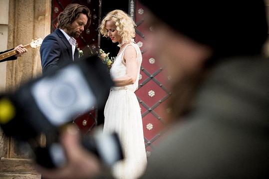 Richard a Karin ve svatebním