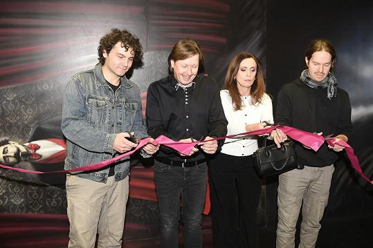 Manželé si nenechali ujít otevření muzea Pavla Kožíška.