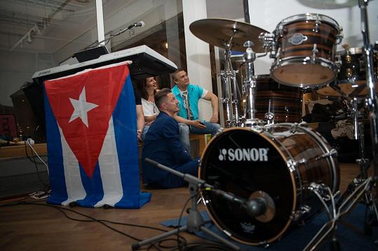 Nechyběla ani kubánská vlajka.