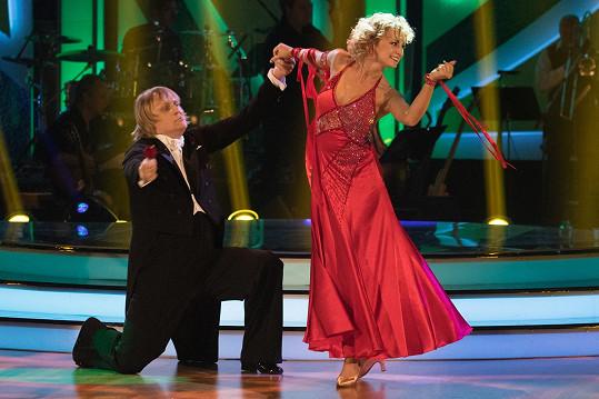Za úvodní tango Lukáš dostal 16 bodů.
