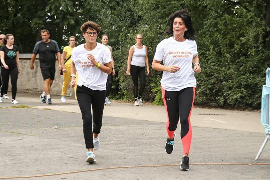 Prokopová si šla s kolegyní Evou Čížkovskou zaběhat pro dobrou věc.