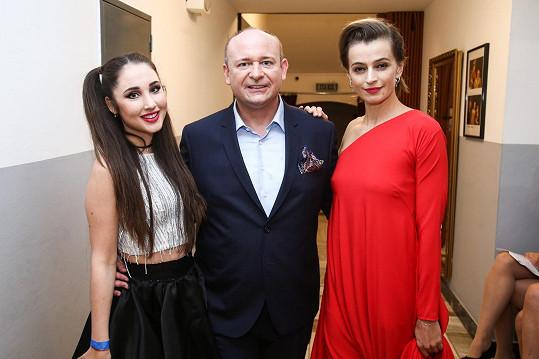 S kolegyní Ivanou Jirešovou a ředitelem obou soutěží Davidem Novotným
