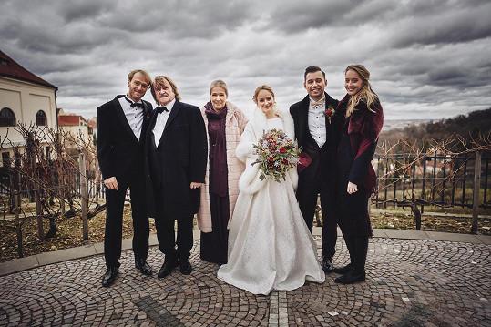 Tereza a Petr s nejbližší rodinou