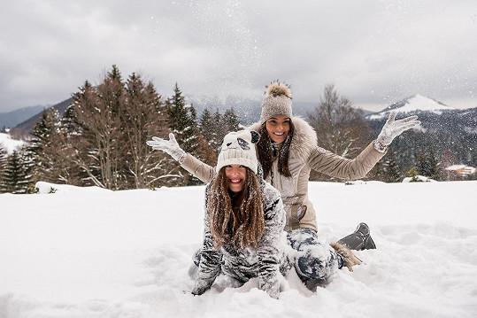Nikol Švantnerová a Denisa Vyšňovská vyrazily za sněhem do slovenského Aspenu, do Donoval.