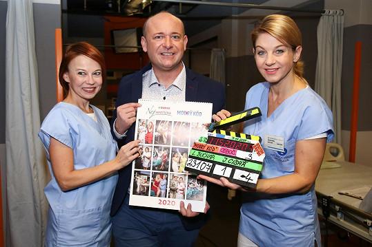S kolegyní Bárou Fišerovou byly kmotrami kalednáře, který dal dohromady ředitel soutěže Batist Nej sestřička David Novotný.