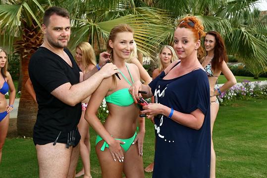 S vlasovým stylistou Pavlem a Martinou, která se starala o make-up.