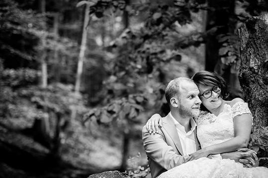Śťastní novomanželé