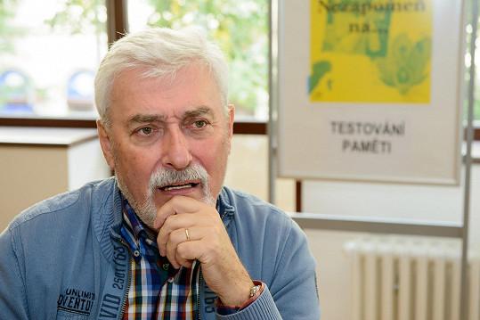 Jan Rosák během paměťového testu