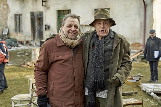 Jan Tříska s Milanem Šteindlerem
