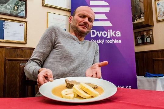 Dalibor Gondík svíčkovou odmítl ochutnat.