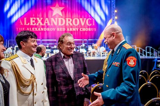 Setkání s Alexandrovci ho těšilo.