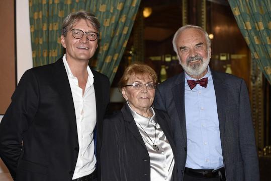 Režisér Jan Svěrák s rodiči