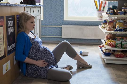 Porodních scén se Míša trochu bála.