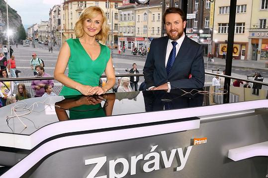 Terezie Kašparovská a její moderátorský parťák Tomáš Hauptvogel