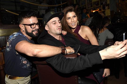 Selfie se Sámerem Issou a Osmanym Laffitou, kteří se na ni přišli podívat.