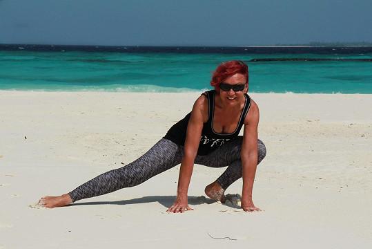 Chodila do posilovny a cvičila i na pláži...