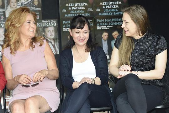 Petra Nesvačilová a Alena Mihulová budou hrát na letní scéně Ungeltu představení Skořápka.