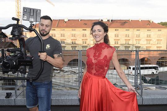 Eva natáčela s Vaškem Noidem Bártou.