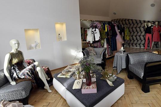 Showroom, kde Osmany tvoří a má zde řadu svých návrhů.