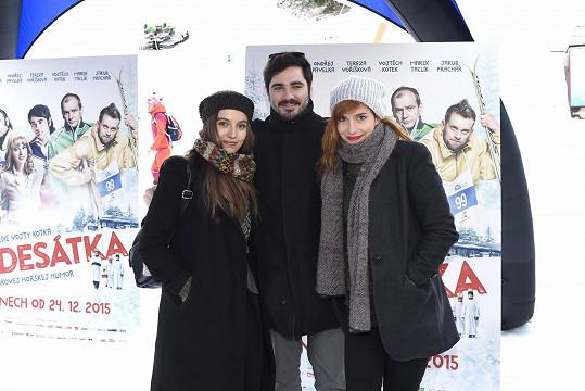 A s krásnými herečkami Terezou Voříškovou a Hanou Vagnerovou