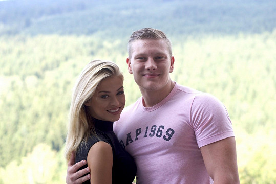 Kristýna Kubíčková s přítelem Honzou