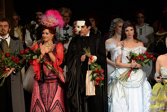 Marian na premiéře Fantoma opery před čtyřmi lety.