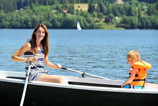 Lucie se synem Davídkem na Lipně
