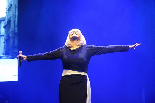 Zagorová si svůj vánoční koncert užívala stejně jako její fanoušci.