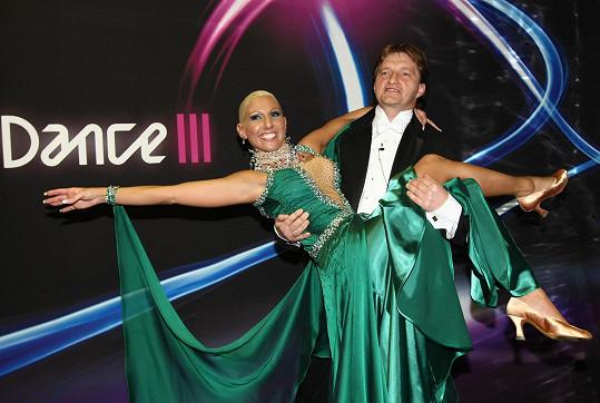 Eva Krejčířová tančila v roce 2008 s Jaromírem Bosákem. Skončili třetí.