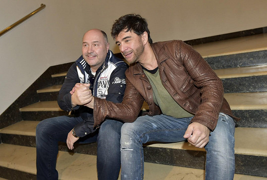 Sagvan Tofi s Michalem Davidem na konkurzu muzikálu Děti ráje