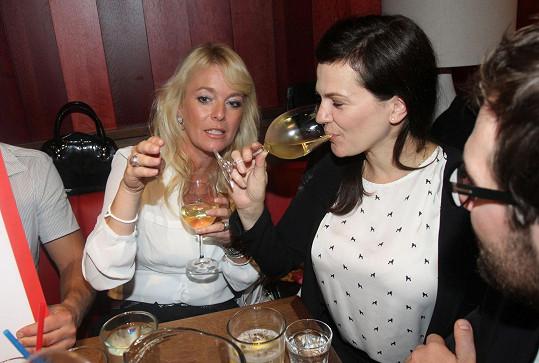 Lucie Benešová se na akci potkala i s Martou Jandovou.