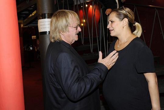 Přivítala se i s Karlem Vágnerem.