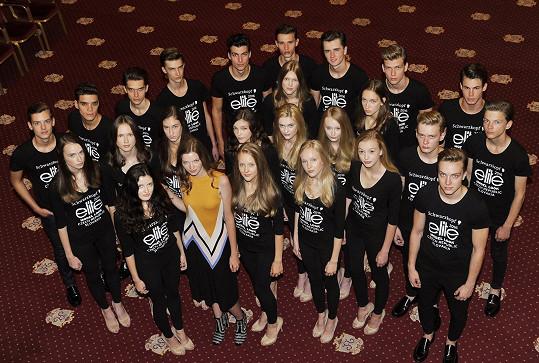 Eva s finalistkami a finalisty letošního ročníku Schwarzkopf Elite Model Look pro Českou a Slovenskou republiku