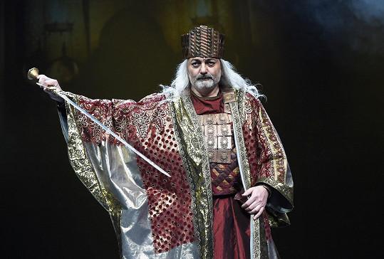 Daniel Hůlka jako král Šalamoun