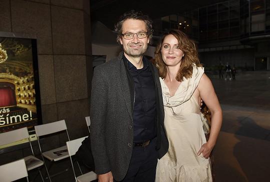 Herečku přišel podpořit manžel Daniel Častvaj.